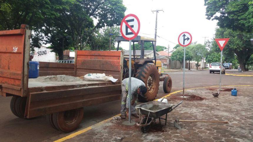 Mudanças no trânsito de Ubiratã visa melhorar o fluxo de veículos e evitar acidentes