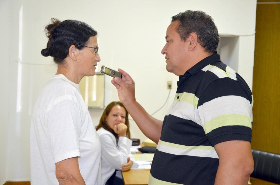 Maria Alves dos Santos aprova o atendimento da médica Dailiana