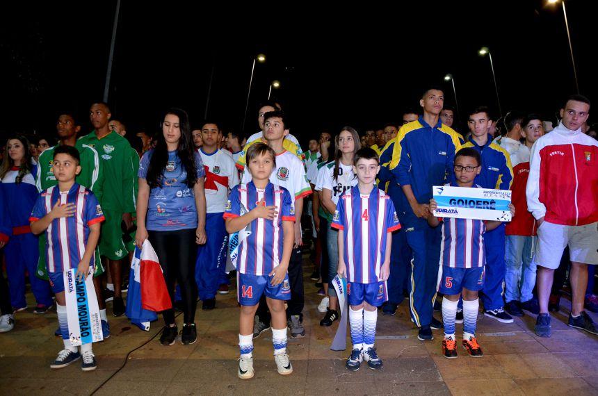 Abertura dos Jogos da Juventude foi realizada na Praça Horácio Ribeiro