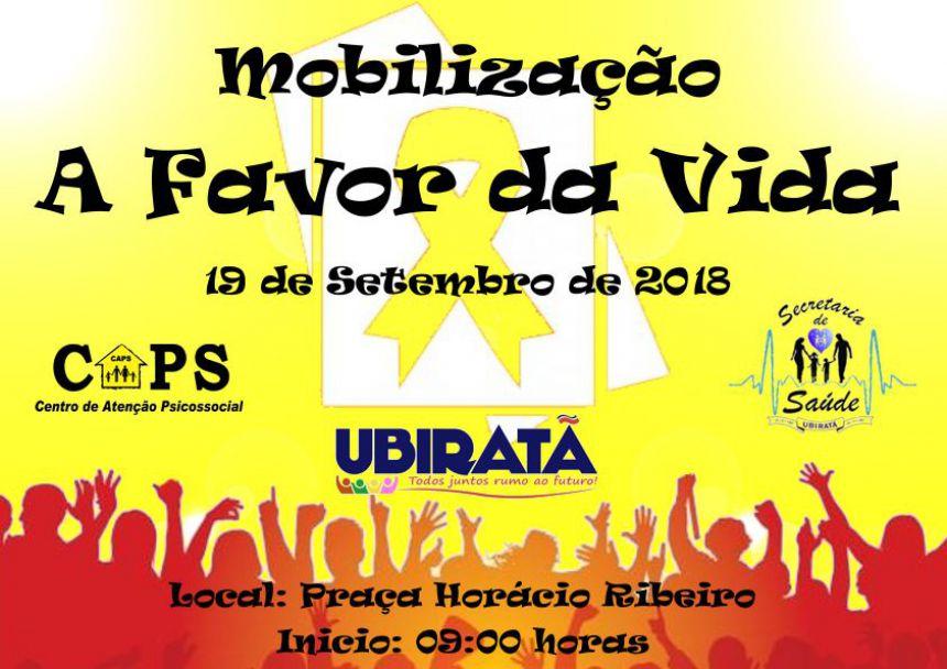 """""""Caminhada: Todos juntos pela vida"""" acontece nesta quarta-feira em Ubiratã"""