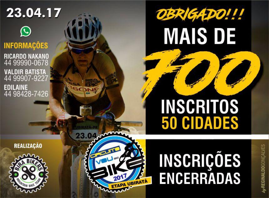 """Circuito """"Vou de Bike 2017"""" acontece neste domingo em Ubiratã"""