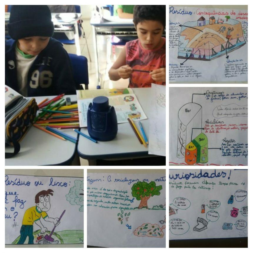 Atividades sobre a importância do meio ambiente são desenvolvidas com alunos da Escola Municipal Dr. Gentil Toledo