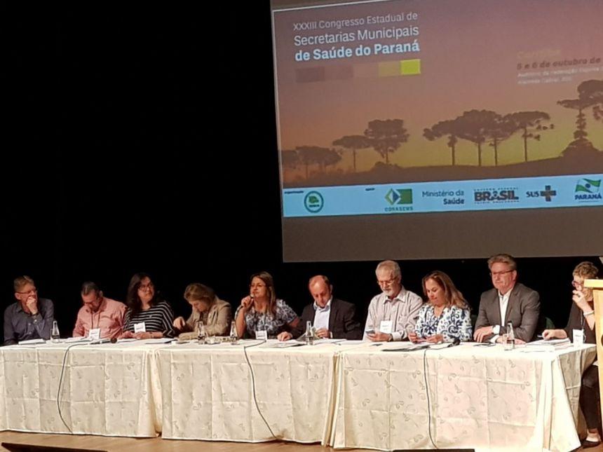 Cristiane Pantaleão foi reeleita presidente do Conselho dos Secretários Municipais de Saúde do Paraná