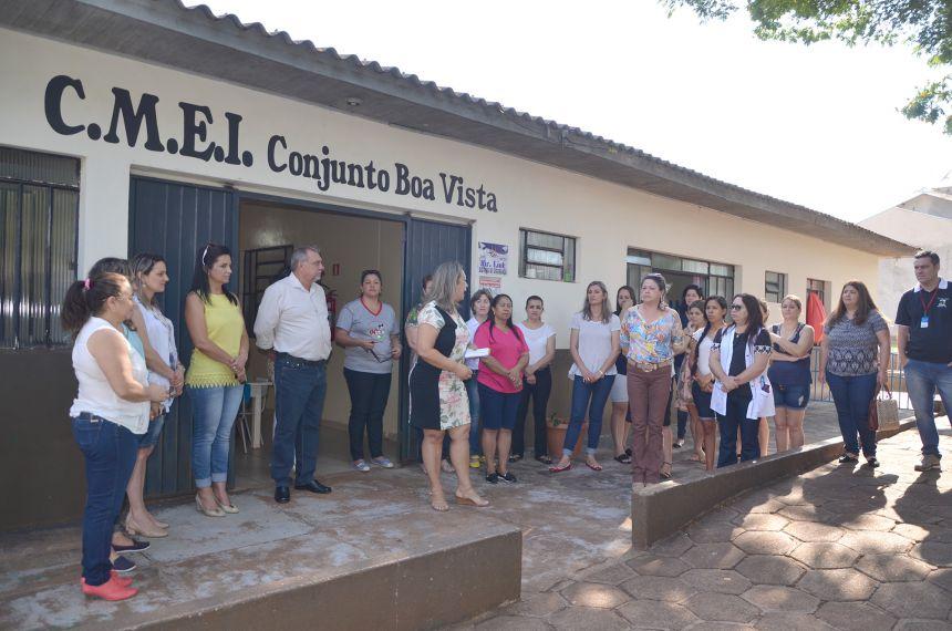 Prefeito Baco apresenta a comunidade projeto de reforma e ampliação do CMEI Boa Vista