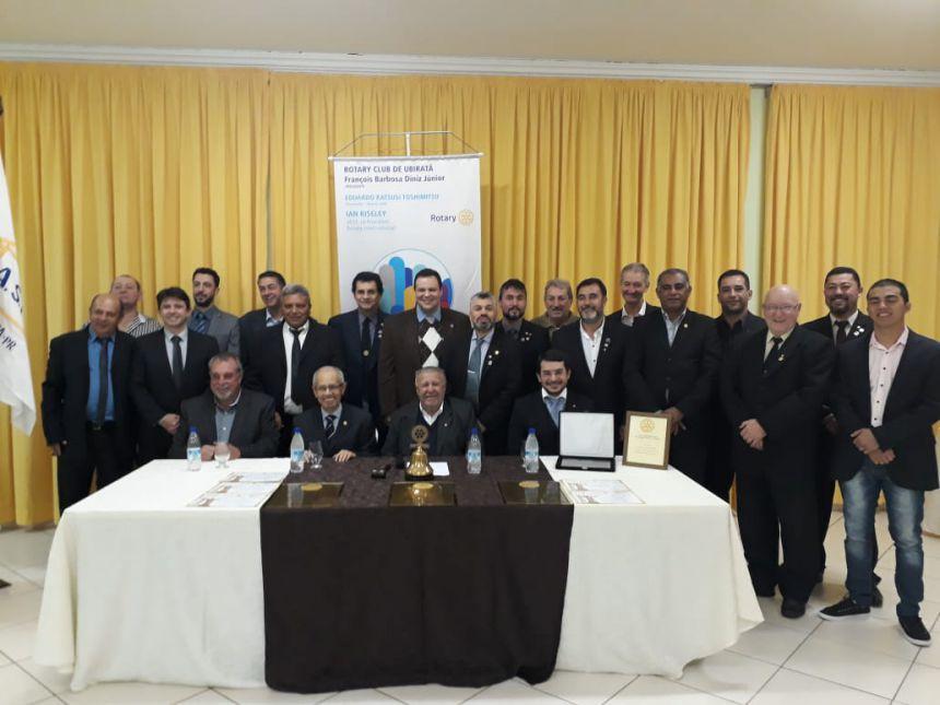 Dr. Ferdinando é homenageado no Rotary Clube de Ubiratã