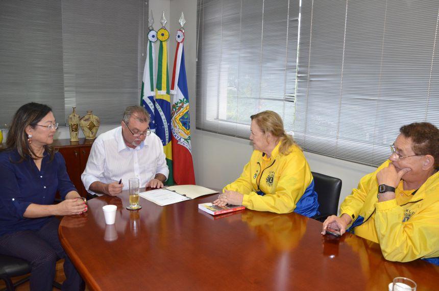 O prefeito de Ubiratã, Haroldo Fernandes Du