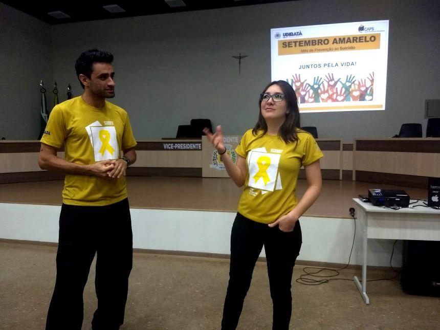 No Setembro Amarelo administração municipal realiza palestra pela valorização da vida