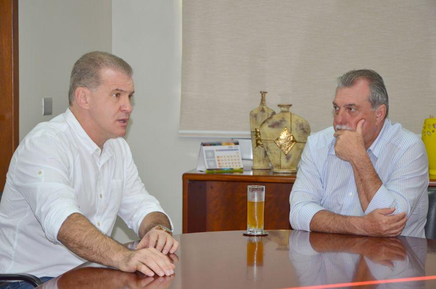 Deputado federal Roman visita prefeito Baco e reafirma compromisso de continuar colaborando com o município