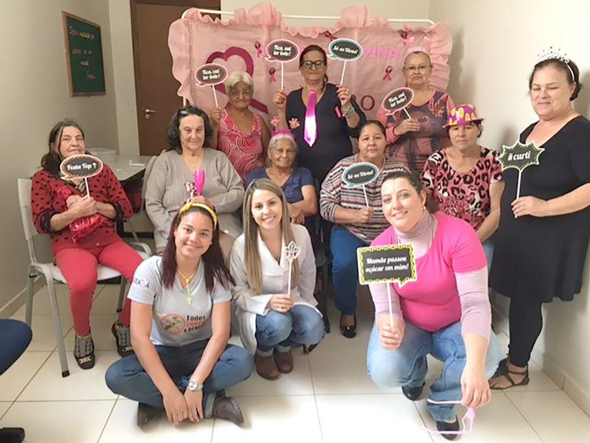 """Unidade de Saúde São Joaquim realizou atividades para o """"Outubro Rosa"""" e participou do """"Bairro Ativo"""""""