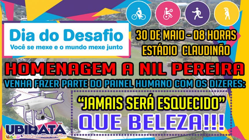 Dia do desafio 2018 homenageará Nil Pereira