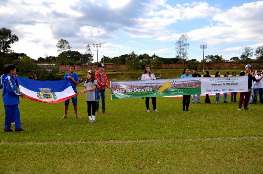 Ubiratanenses participam do Dia do Desafio e prestam uma bela homenagem a Nil Pereira