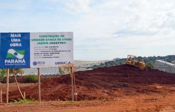 Unidades de saúde estão em construção em praticamente todos os bairros da cidade, como no caso do Jardim Josefina que está na fase de terraplenagem do terreno