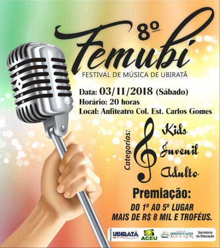 FEMUBI acontecerá no Anfiteatro Carlos Gomes