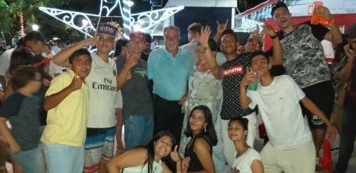 Ubiratanenses brindam a chegada do novo ano com festa na Praça