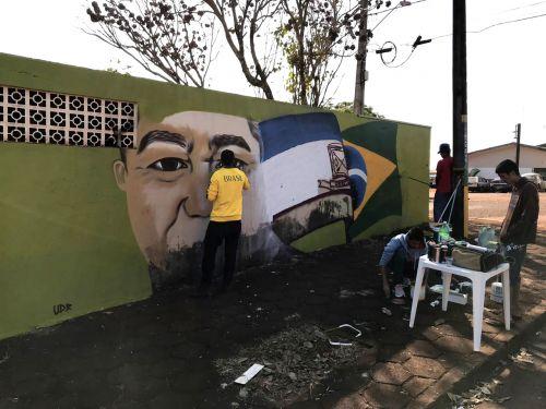 Oficina de Grafitti conseguiu trazer adolescentes ao cumprimento da medida socioeducativa e através da arte embeleza e revitaliza os espaços