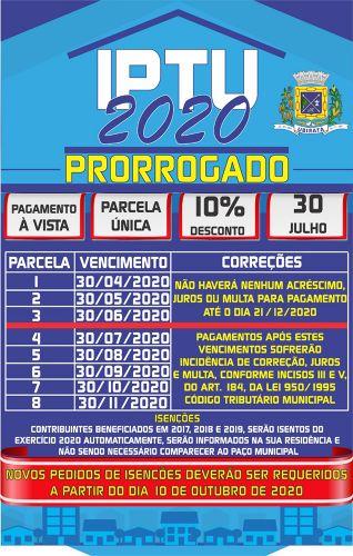 Prefeitura de Ubiratã prorroga prazo de pagamento à vista e parcelado do IPTU 2020; veja as novas datas