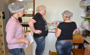 Foram realizadas visitas as instituições para verificar a qualidade dos produtos que estão sendo entregues