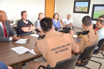 Representantes das Polícias Civil e Militar participaram da reunião para definir questões relacionadas a segurança do evento
