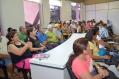 A reunião com os agricultores aconteceu na sala de reuniões da Secretaria de Desenvolvimento Econômico