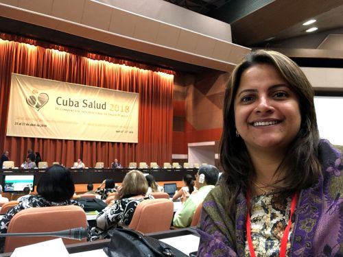 Secretária ubiratanense participa de Congresso Internacional de Saúde Pública em Cuba