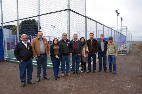 Mini Arena: Yolanda foi beneficiada com uma moderna estrutura esportiva