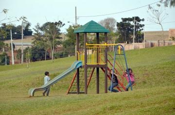 Brinquedos infantis também foram instalados no Parque da Cidade