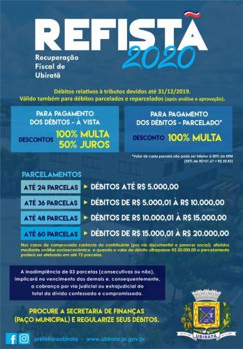 Contribuinte pode regularizar seus débitos com o município com descontos de 100% nas multas e de 50% nos juros