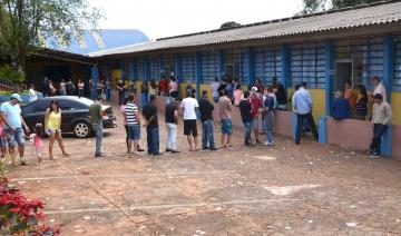 Em alguns locais teve filas, mas isso não atrapalhou o andamento da votação