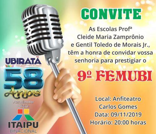 FEMUBI acontecerá neste sábado no Anfiteatro Carlos Gomes