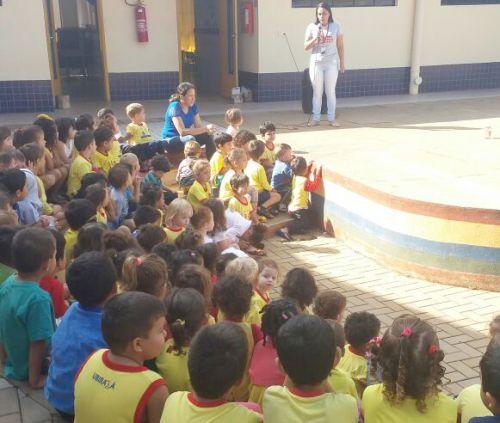 """Projeto """"Dengue - Brincando e aprendendo a gente vai combatendo"""" é desenvolvido no CMEI Lugar de Gente Feliz"""