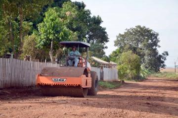 Foram utilizados maquinários e funcionários das secretarias de Serviços Rurais e Serviços Urbanos