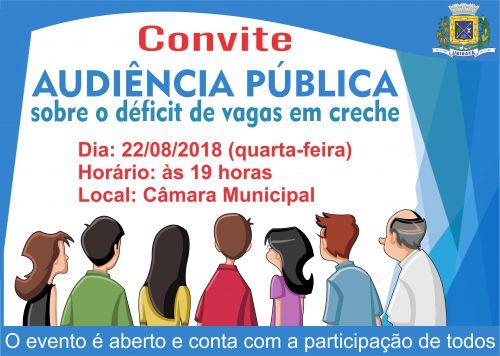 Audiência pública discutirá sobre o déficit de vagas em creche