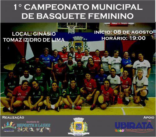 Campeonato Municipal de Basquete Feminino começa hoje em Ubiratã