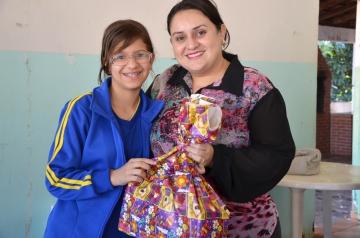 Durante a semana do dia das crianças foram distribuídos presentes