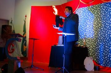A atração principal do evento foi o show de mágicas