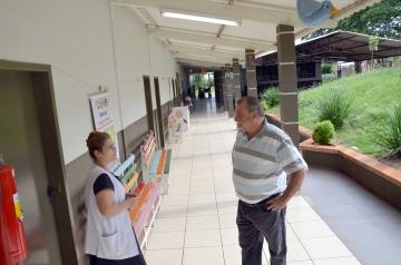 Baco também está vistoriando as condições estruturais e físicas das escolas municipais de Ubiratã