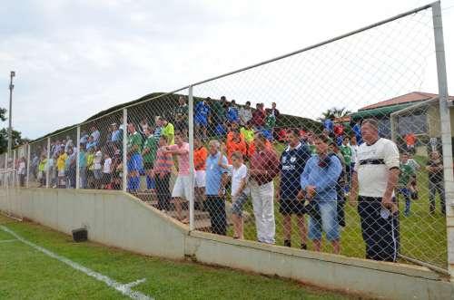 População compareceu para assistir as partidas de futebol