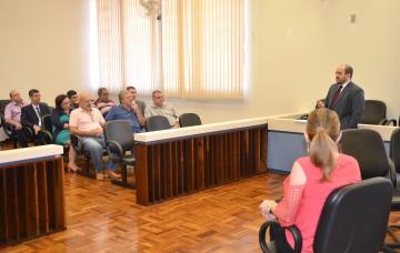Juiz e promotora informaram aos presentes na reunião a quantidade de processos que tramitam na Comarca