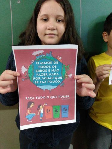 Atividades sobre a importância do meio ambiente são desenvolvidas com alunos da Escola Municipal Furusato Tomio