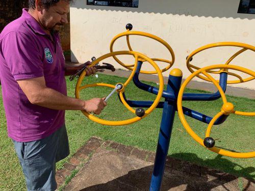 Secretaria de Esportes faz manutenção nas academias da terceira idade