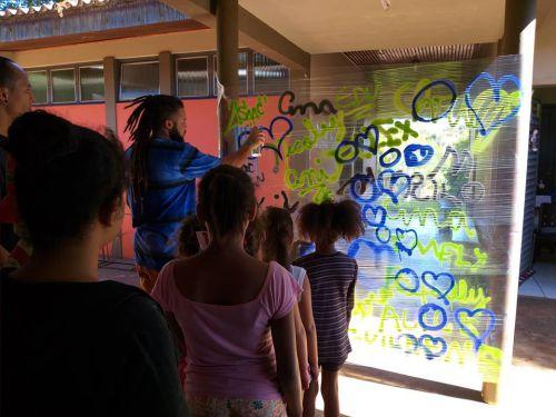 Iniciada em Ubiratã oficina de grafite