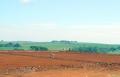Toda a parte de terraplenagem da 'escola do futuro' foi concluída; operários iniciaram a demarcação da área