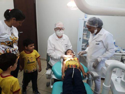 Crianças do CMEI Lugar de Gente Feliz visitam Unidade de Saúde Josefina