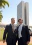 Prefeito Fábio D'Alécio esteve em Brasília e na oportunidade apresentou alguns pedidos ao deputado federal Hermes 'Frangão' Parcianello