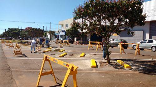 Manutenção e melhorias nos canteiros centrais da Avenida Nilza de Oliveira Pipino