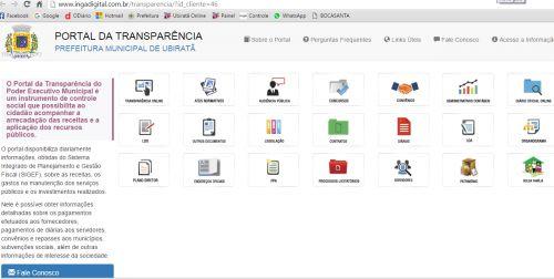 Município de Ubiratã atendendo recomendações do Ministério Público disponibiliza informações no Portal da Transparência