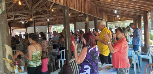 Comemoração do Natal no Centro de Convivência de Idosos de Ubiratã