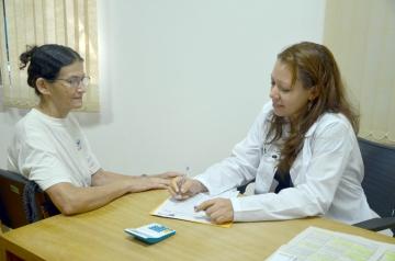 Para Dailiana o mais importante é o contato com o paciente