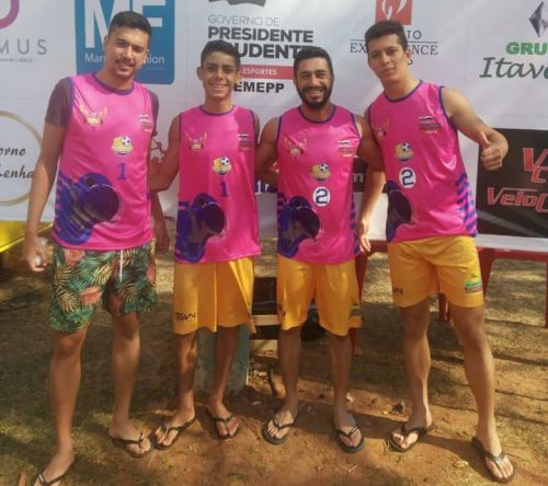 Atletas de Ubiratã são campeões da 2ª Liga de Futevôlei Prudentina