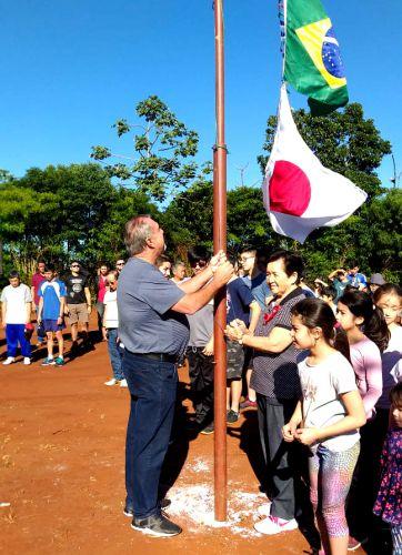 Prefeito Baco prestigia gincana da comunidade japonesa